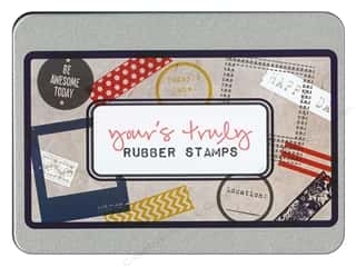 Glitz Design Rubber Stamp Set Yours Truly