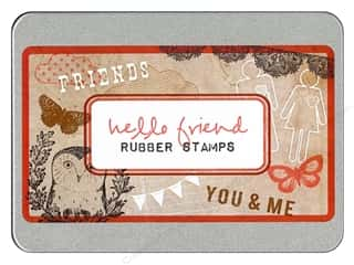 Glitz Design Rubber Stamp Set Hello Friend