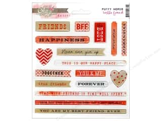 Glitz Design Sticker Puffy Hello Friend Word