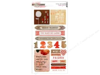 Scrapbooking Designer Papers & Cardstock: Glitz Design Sticker Cardstock Hello Friend Title