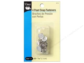 Snaps $4 - $7: Pearl Snap Fastener Buttons by Dritz 7/16 in. White 4 pc.