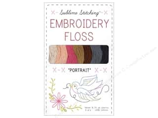 Sublime Stitching Quilting Notions: Sublime Stitching Floss Pack Six Ply Portrait 7pc