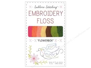 Weekly Specials Sublime Stitching Floss: Sublime Stitching Floss Pack Six Ply Flowerbox 7pc