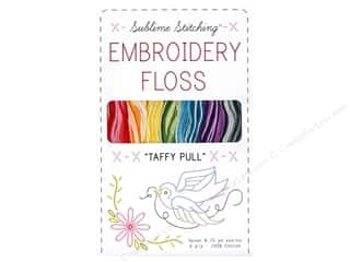 Variegated Floss: Sublime Stitching Floss Pack Six Ply Taffy Pull7pc