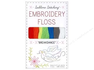 Sublime Stitching Quilting Notions: Sublime Stitching Floss Pack Six Ply Breakdance 7pc