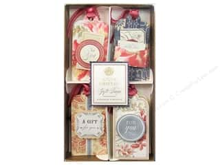 Valentines Day Gifts: Anna Griffin Gift Tags 8 pc. Fleur Rouge