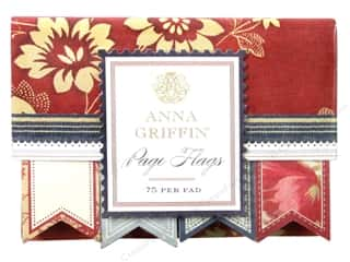 Anna Griffin Notes Page Flags Fleur Rouge