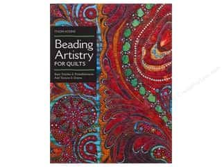 needlework book: C&T Publishing Beading Artistry For Quilts Book by Thom Atkins