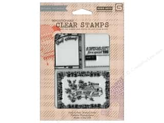 Valentines Day Gifts Stamps: BasicGrey Clear Stamp 3 pc. Fancy Schmancy