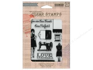 BasicGrey Clear Stamp Lucille Collection Sew Perfect