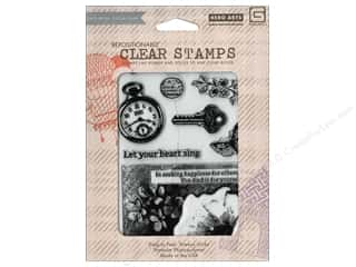 BasicGrey Clear Stamps 8 pc. Pocket Watch