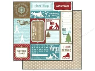 Carta Bella Paper 12x12 Winter Fun Wintertime Card (25 piece)