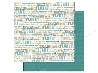 Carta Bella Carta Bella 12 x 12 in. Paper: Carta Bella 12 x 12 in. Paper Winter Fun Flurry Of Words (25 pieces)