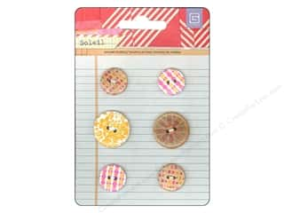 Wood paper dimensions: BasicGrey Wooden Buttons 6 pc. Soleil