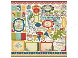 Carta Bella Caption Stickers / Frame Stickers: Carta Bella Sticker 12 x 12 in. Traditions Element (15 sets)