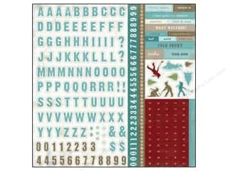Caption Stickers / Frame Stickers: Carta Bella Sticker 12 x 12 in. Winter Fun Alphabet (15 set)