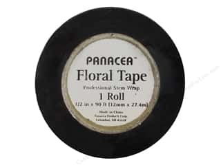 Floral Supplies: Panacea Floral Supplies Tape 90' Black (12 feet)