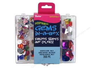 Rhinestones Beading & Jewelry Making Supplies: Darice Rhinestone Gems In a Box Multi 300pc