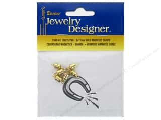 Findings $5 - $6: Darice Jewelry Designer Clasps Magnetic 5x11mm Gold 6pc