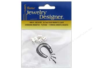 Jewelry Making Supplies $5 - $6: Darice Jewelry Designer Clasps Magnetic 5x11mm Silver 5pc