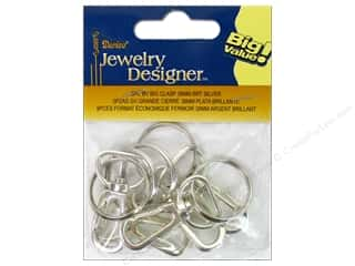 Jewelry Making Supplies Americana: Darice Jewelry Designer Clasps Swivel 38mm Bright Silver 5pc