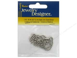 "jewelry chains: Darice Jewelry Designer Chain 18"" 2.5mm Bright Silver"