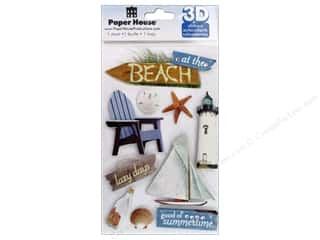Beach & Nautical Doll Making: Paper House Sticker 3D Beach