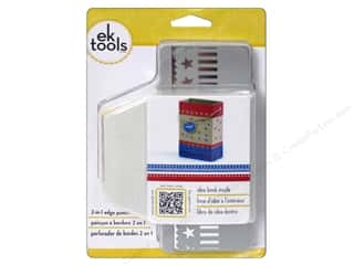 Clearance paper dimensions: EK Paper Shapers Edger Punch 2 In 1 Stars & Stripes