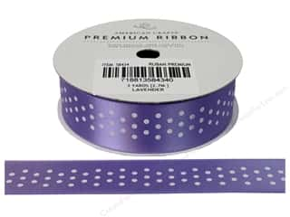American Crafts Satin Ribbon with Dots 7/8 in. Lavender