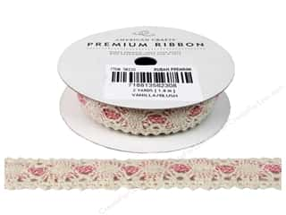 American Crafts Ribbon Lace Cro 3/4&quot; Van/Blh 2yd