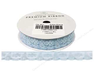 "American Crafts Ribbon Lace 5/8"" Lagoon 3yd"