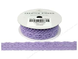 "American Crafts Ribbon Lace Cro 7/8"" Lav 2yd"