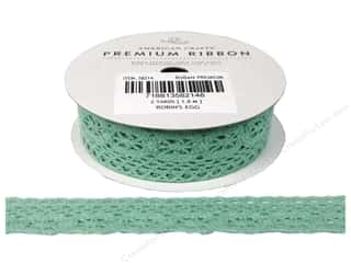 Lace Trims Scrapbooking: American Crafts Lace Crochet Ribbon 7/8 in. x 2 yd. Robin's Egg