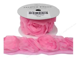 American Crafts Ribbon Rose 1 1/2&quot; Peony 1yd