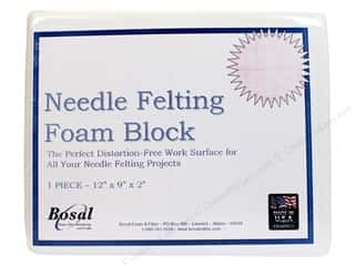 "Bosal 12"": Bosal Needle Felting Foam Block 12 x 9 x 2 in."