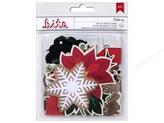 American Crafts Embellishment Bits Die Cut Shapes Kringle & Co Holiberry