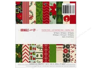American Crafts Paper Pad 6&quot;x 6&quot; Kringle &amp; Co