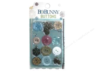 button: Bo Bunny Buttons 12 pc. Snow Day