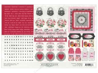 Valentine's Day ABC & 123: Authentique Stickers 12 x 8 in. Lovely Elements