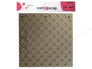 "Want 2 Scrap Memory Albums / Scrapbooks / Photo Albums: Want2Scrap Album Chipboard 8""x 8"" Lattice"