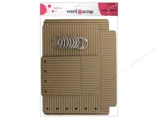 Clearance Want2Scrap Album: Want2Scrap Album Corrugated Rectangle Assorted