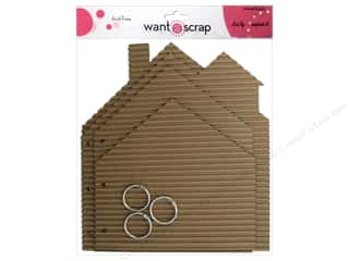 Clearance Want2Scrap Album: Want2Scrap Album Corrugated Album House
