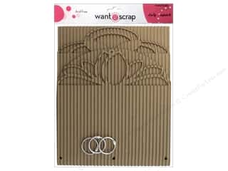 Want 2 Scrap Clear: Want2Scrap Album Corrugated Retro