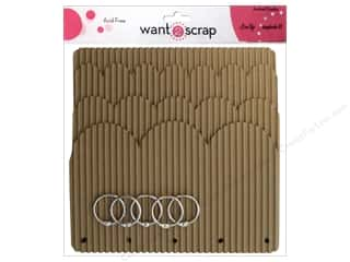 Want 2 Scrap Memory Albums / Scrapbooks / Photo Albums: Want2Scrap Album Corrugated Waterfall