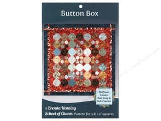 Bear Paw Productions Fat Quarter / Jelly Roll / Charm / Cake Books: Bear Paw Productions School of Charm Button Box Pattern