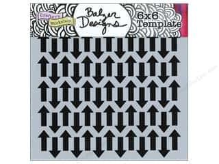 The Crafters Workshop Template 6x6 Chevron Arrows