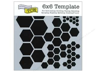 Clearance The Crafters Workshop Template: The Crafter's Workshop Template 6 x 6 in. Hexagons