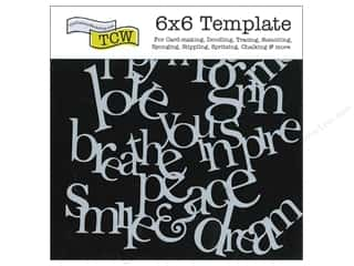 The Crafter's Workshop Template 6 x 6 in. Word Collage