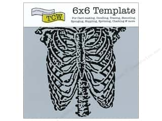 Crafter's Workshop, The Halloween Spook-tacular: The Crafter's Workshop Template 6 x 6 in. Ribcage