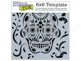 Crafter's Workshop, The Craft & Hobbies: The Crafter's Workshop Template 6 x 6 in. Mexican Skull